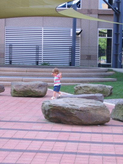 Liana at the rocks in 2005.