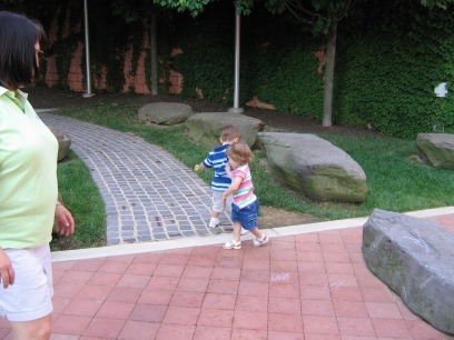 Owen and Liana at the rocks in 2005.
